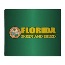 Florida Born & Bred Throw Blanket
