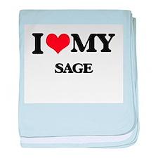 I love my Sage baby blanket