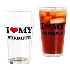 I love my Shrimper Drinking Glass