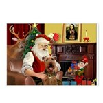 Santas Airedale Postcards (Package of 8)
