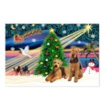 XmasMagic/Airedale Postcards (Package of 8)