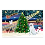 Xmas Magic & Akita Postcards (Package of 8)