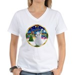 XmasMusic 3/Am Eskimo #3 Women's V-Neck T-Shirt