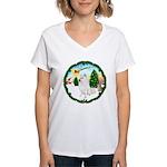 Take Off1/Am Eskimo #5 Women's V-Neck T-Shirt