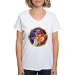 Angel3/Am Eskimo #3 Women's V-Neck T-Shirt