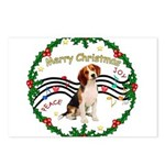 XmasMusic1MC/ Beagle Postcards (Package of 8)