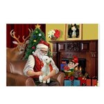 Santa's Bedlington Postcards (Package of 8)