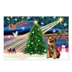 Xmas Magic & Border T Postcards (Package of 8)