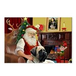 Santa's Bull Mastiff Postcards (Package of 8)