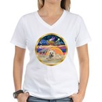 XmasStar/Cairn 4 Women's V-Neck T-Shirt