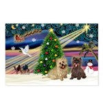 Xmas Magic & 2 Cairns Postcards (Package of 8)