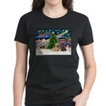 Xmas Magic & 2 Cairns Women's Dark T-Shirt