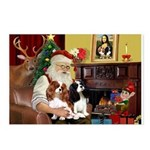 Santa's 2 Cavaliers Postcards (Package of 8)