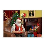 Santa's Chihuahua Postcards (Package of 8)