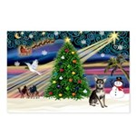 Xmas Magic & Chihuahua Postcards (Package of 8)