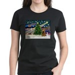 XmasMagic/Cocker (Brn) Women's Dark T-Shirt