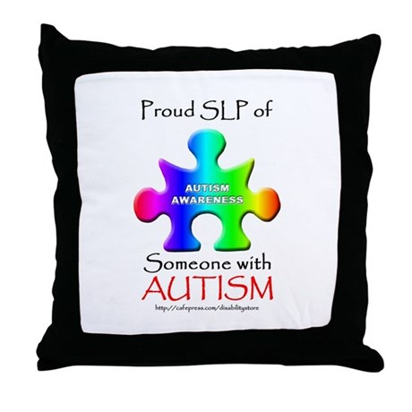 Proud SLP Throw Pillow