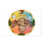 XmasMusic2/Dachshund (WH)#11 Postcards (Package of