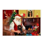 Santa's Dachshud (LH) Postcards (Package of 8)