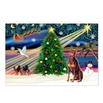 Xmas Magic/Red Dobie Postcards (Package of 8)