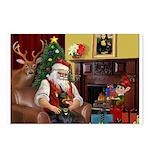 Santa's Dobie (Bz) Postcards (Package of 8)