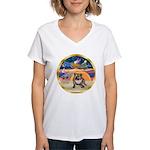 XmasStar/EBD BD2 Women's V-Neck T-Shirt