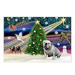 Xmas Magic & Bulldog Postcards (Package of 8)