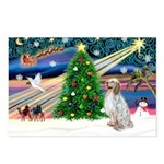 XmasMagic/ English Setter Postcards (Package of 8)