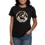 Night Flight/ German Shepherd Women's Dark T-Shirt