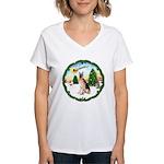 Take Off1/ German Shepherd Women's V-Neck T-Shirt