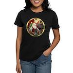 Santa's German Shepherd Women's Dark T-Shirt