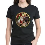 Santa's German Shepherd Women's Dark T-Shirt