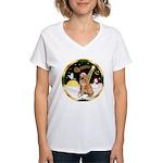 Night Flight/Golen #1B Women's V-Neck T-Shirt