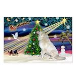 Santa's Great Pyrenees Postcards (Package of 8)