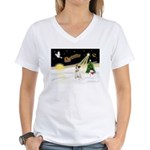 Night Flight/ JRT #1 Women's V-Neck T-Shirt