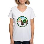Take Off1/Lab (choc) Women's V-Neck T-Shirt