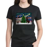 Xmas Magic & Choc Lab Women's Dark T-Shirt