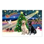 XmasMagic/ 2 Labs (Y&B) Postcards (Package of