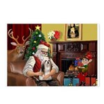 Santa's Lhasa Apso Postcards (Package of 8)