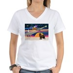 XmasStar/ Newfie Women's V-Neck T-Shirt