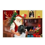 Santa's Newfie (L) Postcards (Package of 8)