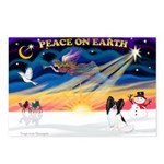XmasSunrise/Papillon #1 Postcards (Package of 8)