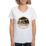 Wisemen/Pekingese Women's V-Neck T-Shirt