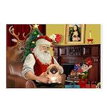 Santa's Pekingese Postcards (Package of 8)