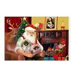 Santa's 2 Pekingese Postcards (Package of 8)