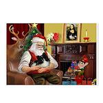 Santa's Pomeranian Postcards (Package of 8)