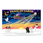 XmasSunrise/2 Poodles Postcards (Package of 8)