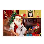 Santa's Std Poodle(w) Postcards (Package of 8)