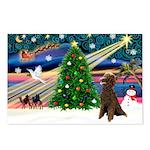 XmasMagic/ Std Poodle Postcards (Package of 8)