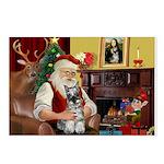 Santa's Mini Schnauzer Postcards (Package of 8)